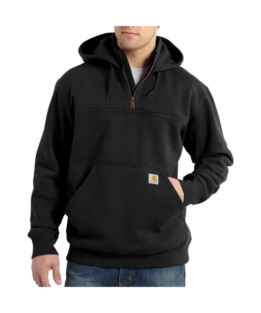Carhartt Paxton Heavyweight Half-Zip Hooded Sweatshirt in Black at Dave's New York