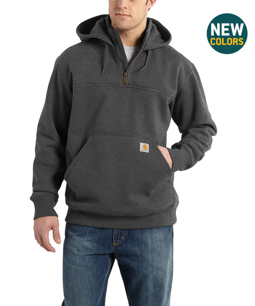 Carhartt 100617 Paxton Half-Zip Hooded Sweatshirt – Carbon Heather