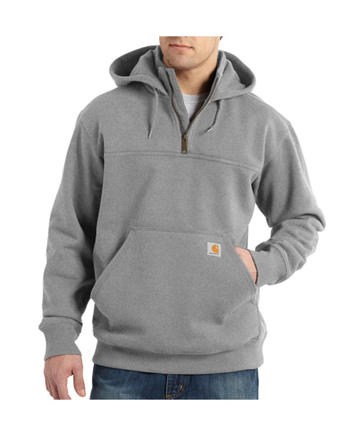 Carhartt Paxton Heavyweight Half-Zip Hooded Sweatshirt in Heather Gray at Dave's New York