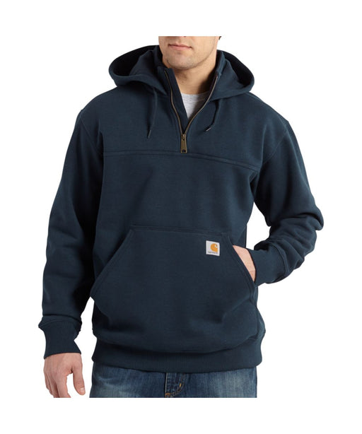 Carhartt Paxton Heavyweight Half-Zip Hooded Sweatshirt in New Navy at Dave's New York
