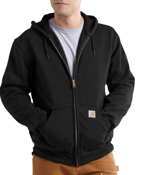 Carhartt Rain Defender™ Rutland Thermal-Lined Zip-Front Sweatshirt in Black at Dave's New York