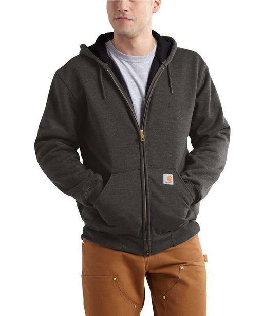 Carhartt Rain Defender™ Rutland Thermal-Lined Zip-Front Sweatshirt in Peat at Dave's New York