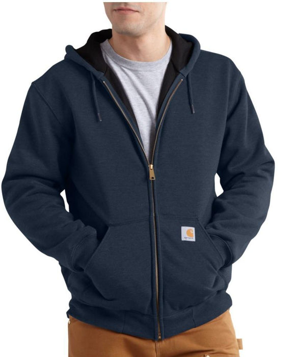 Carhartt Rain Defender™ Rutland Thermal-Lined Zip-Front Sweatshirt in New Navy at Dave's New York