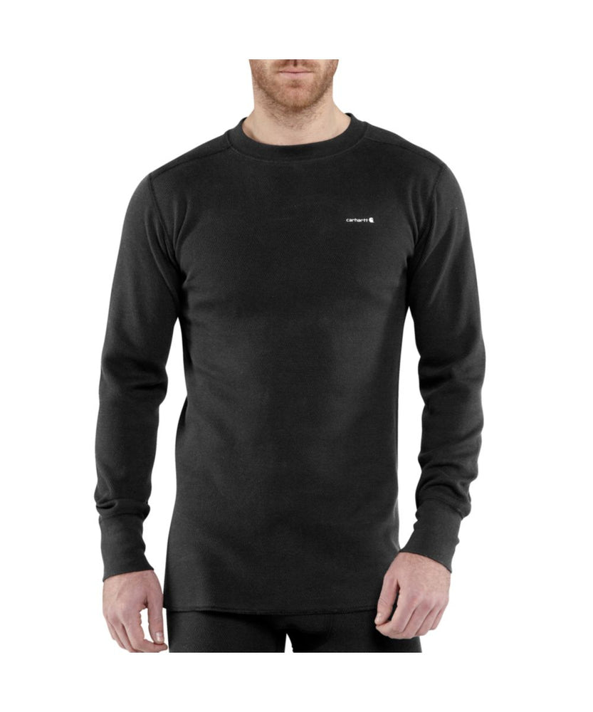 Carhartt Base Force™ Cotton Super-Cold Weather Crewneck Thermal Top - Black