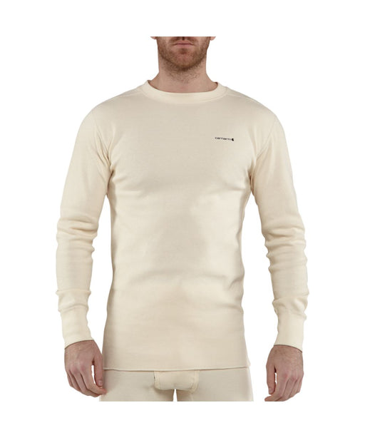 Carhartt Base Force™ Cotton Super-Cold Weather Crewneck Thermal Top - Natural