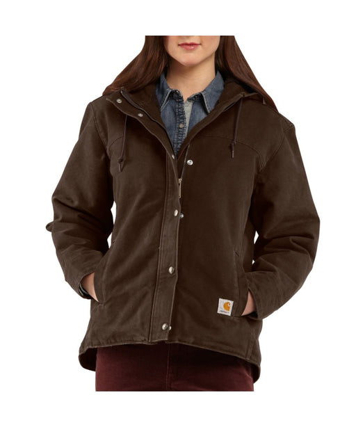 Carhartt Women's Sandstone Berkley Jacket (100657) – Dark Brown