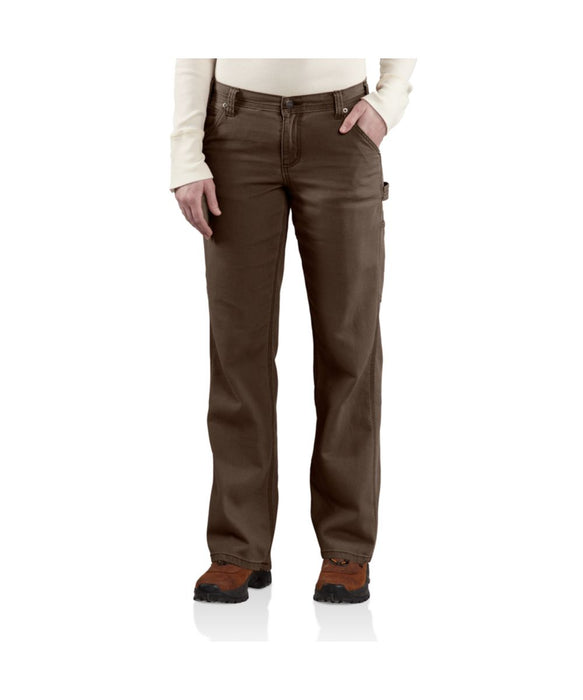 Carhartt Women's Canvas Crawford Dungaree Pants – Dark Brown