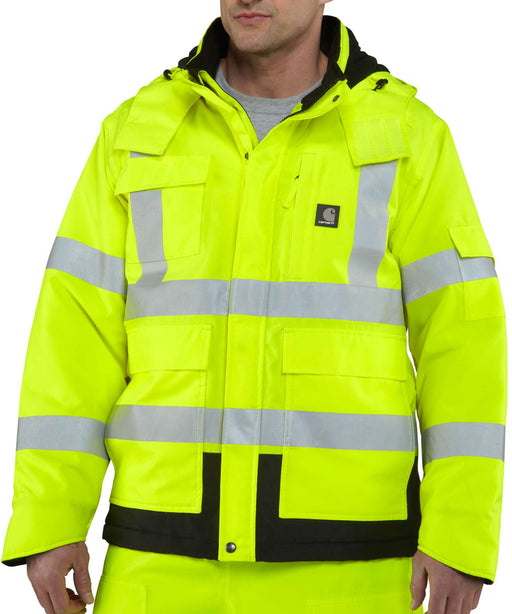Carhartt High Visibility Class 3 Waterproof Sherwood Jacket - Brite Lime