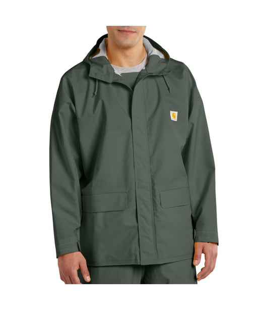 Carhartt Mayne PVC Waterproof Rain Coat in Green at Dave's New York