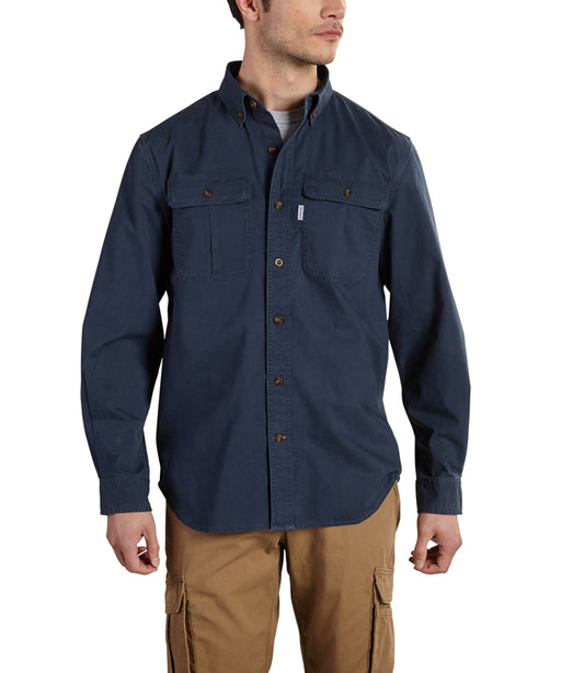 Carhartt 101554 Foreman Solid Long Sleeve Work Shirt –Navy