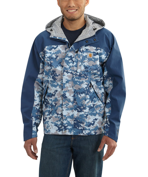 Carhartt Men's Shoreline Vapor Jacket - Dark Blue Digi Camo