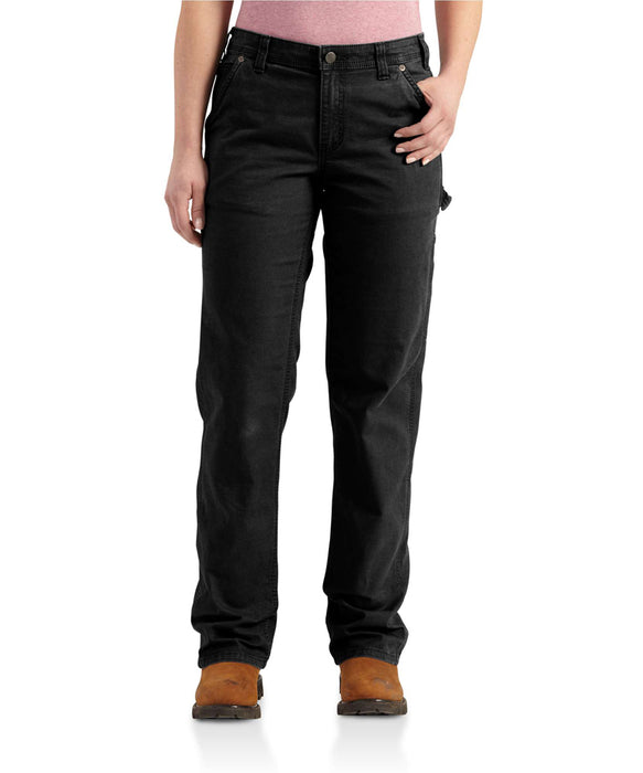 Carhartt Women's Original Fit Crawford Pants (102080) in Black at Dave's New York