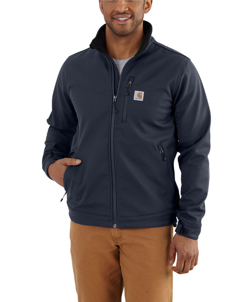Carhartt Crowley Softshell Jacket (102199) in Navy at Dave's New York