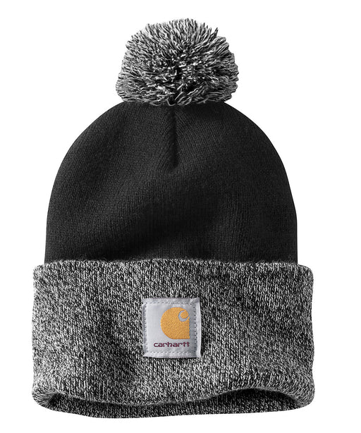 Carhartt Lookout Pom Pom Hat (Beanie) - Black at Dave's New York