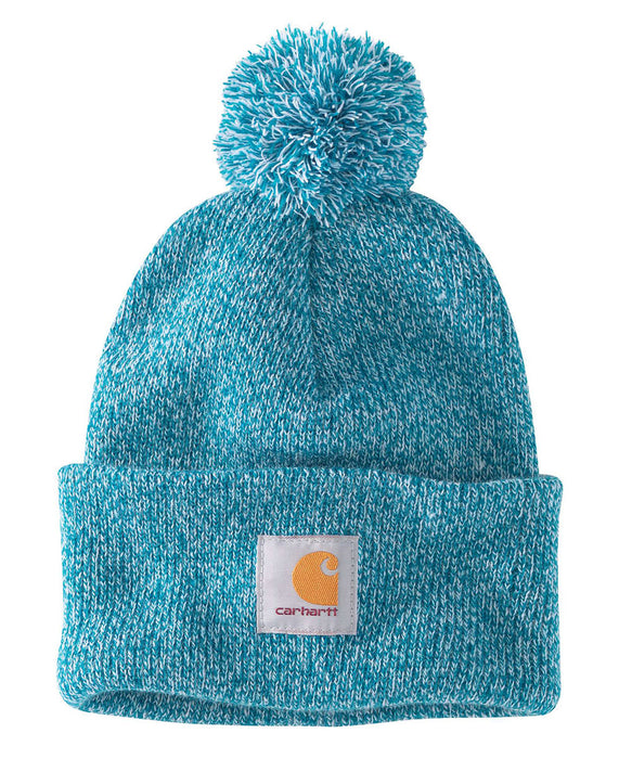 Carhartt Lookout Pom Pom Hat (Beanie) - Ocean Blue at Dave's New York
