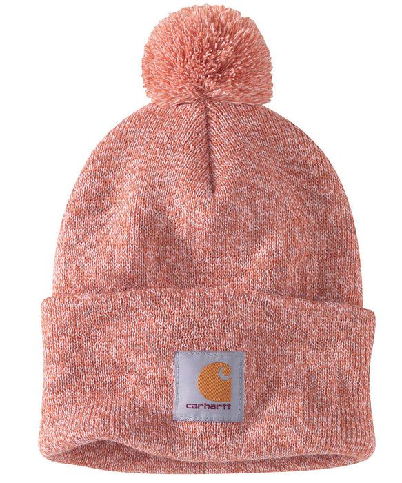 Carhartt Lookout Pom Pom Hat (Beanie) - Aragon Heather at Dave's New York
