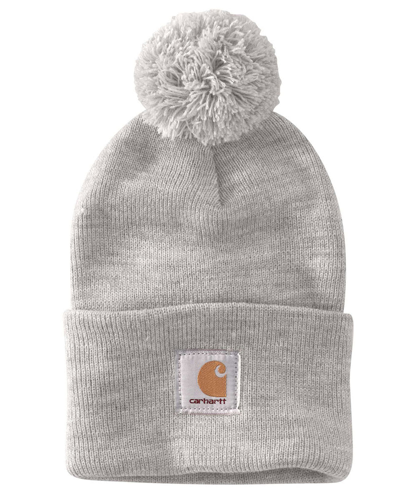Carhartt Lookout Pom Pom Hat (Beanie) - Alabaster Heather at Dave's New York