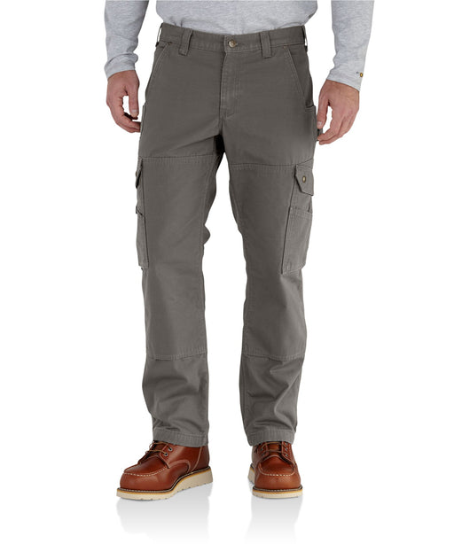 Carhartt Flannel Lined Ripstop Cargo Work Pant (102287) in Gravel Grey at Dave's New York