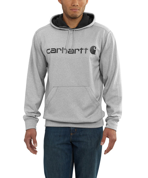 Carhartt Men's Force Extremes Signature Graphic Hooded Sweatshirt - 102314 - Asphalt Heather