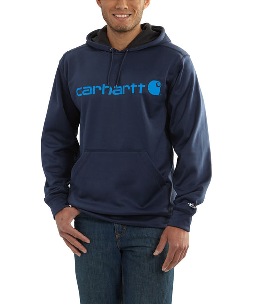 Carhartt Force Extremes Signature Graphic Hooded Sweatshirt - Navy