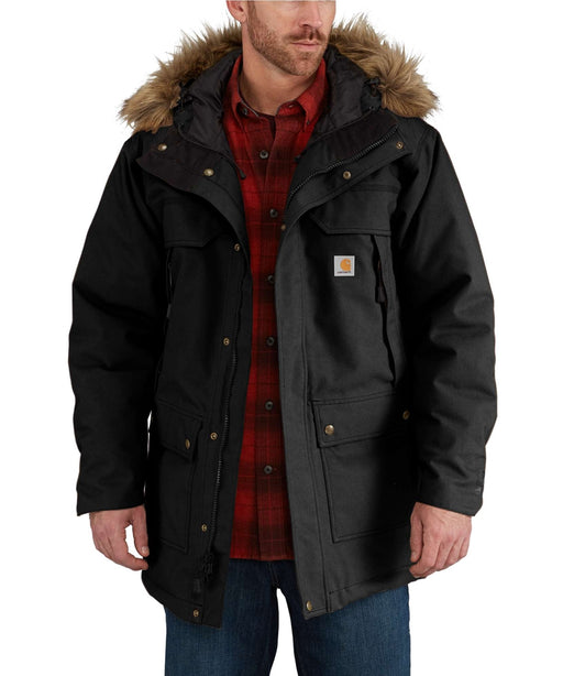 Carhartt Men's Quick Duck Sawtooth Parka in Black at Dave's New York