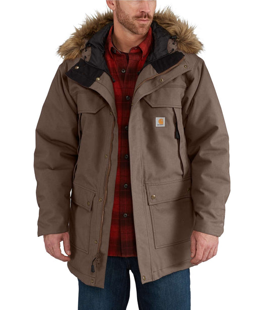 Carhartt Men's Quick Duck Sawtooth Parka in Dark Canyon Brown at Dave's New York