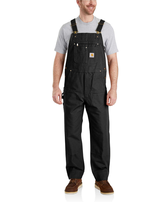 Carhartt NEW R01 Duck Bib Overalls in Black at Dave's New York