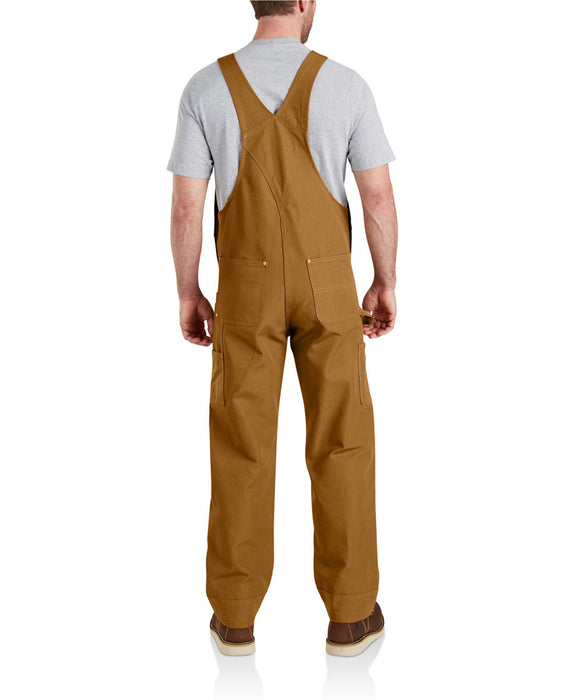 Carhartt NEW R01 Duck Bib Overalls in Carhartt Brown at Dave's New York