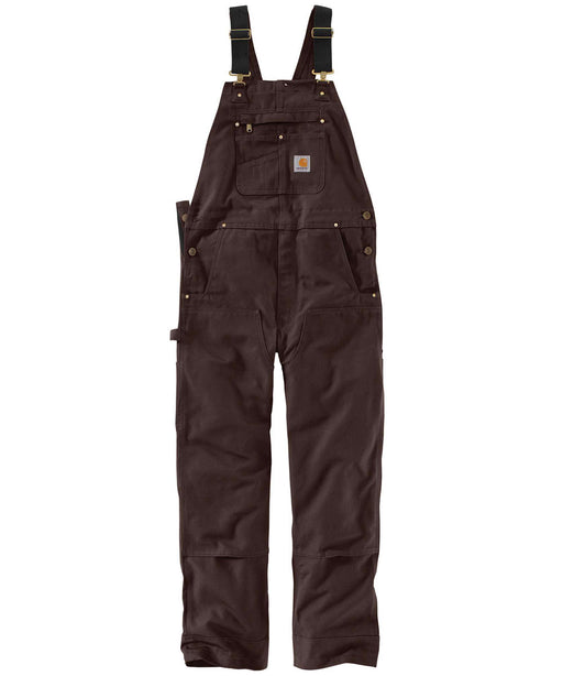 Carhartt R01 Duck Bib Overalls in Dark Brown at Dave's New York