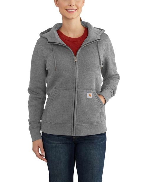 Carhartt Women's Clarksburg Full-Zip Hoodie Sweatshirt in Asphalt Heather at Dave's New York