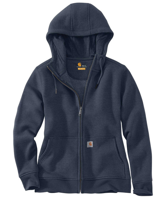 Carhartt Women's Clarksburg Full-Zip Hoodie Sweatshirt in Dark Navy at Dave's New York