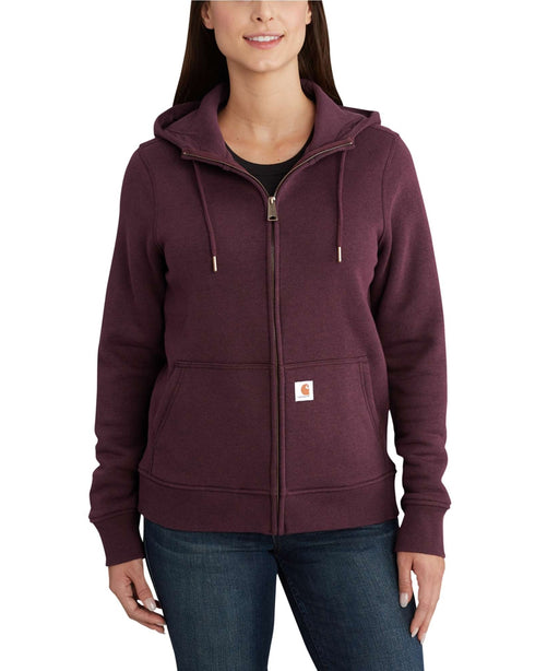 Carhartt Women's Clarksburg Full-Zip Hoodie Sweatshirt in Fudge Heather at Dave's New York