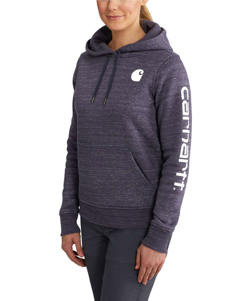 Carhartt Clarksburg Sleeve Logo Hooded Sweatshirt - Navy Space Dye at Dave's New York