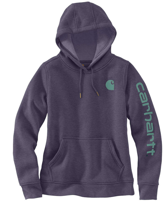 Carhartt Clarksburg Sleeve Logo Hooded Sweatshirt - Graystone Heather at Dave's New York