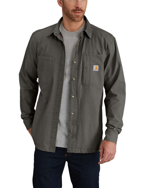Carhartt Men's Rugged Flex Rigby Shirt Jacket – 102851 - Peat Moss at Dave's New York