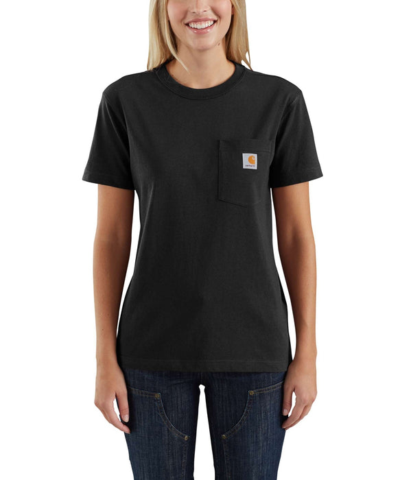 Carhartt Women's WK87 Pocket Short Sleeve T-Shirt in Black at Dave's New York