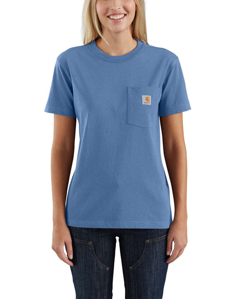 Carhartt Women's WK87 Pocket Short Sleeve T-Shirt - French Blue