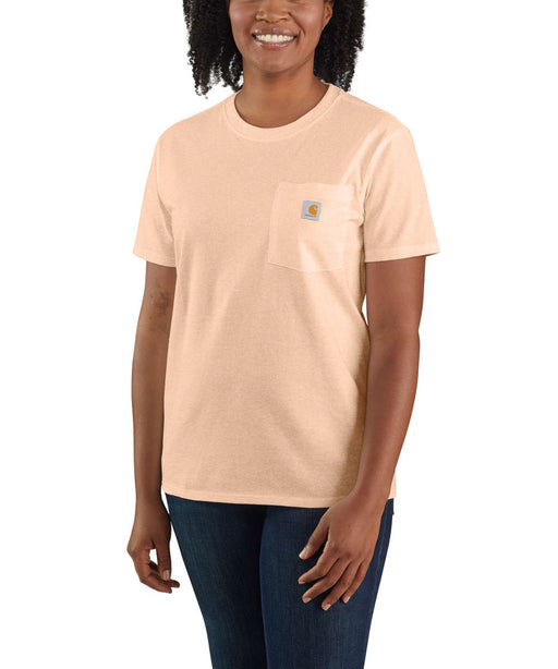 Carhartt Women's WK87 Pocket Short Sleeve T-Shirt - Cantaloupe Heather at Dave's New York