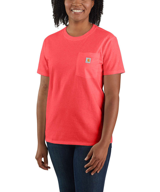Carhartt Women's WK87 Pocket Short Sleeve T-Shirt - Ruby Heather at Dave's New York