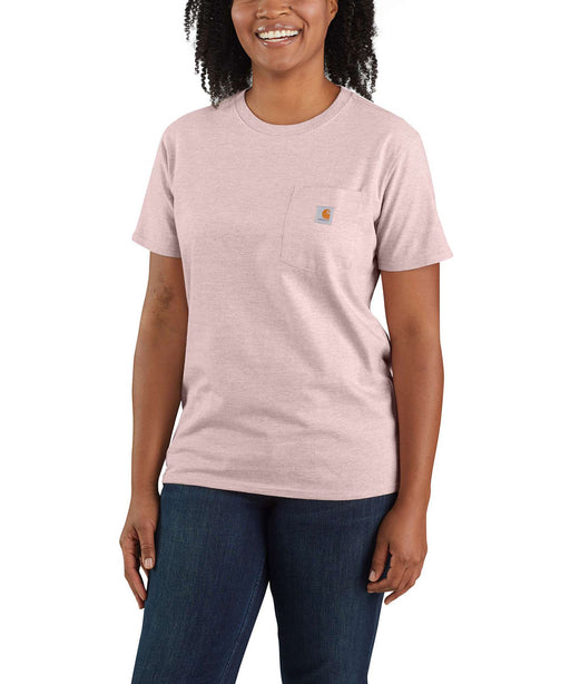 Carhartt Women's WK87 Pocket Short Sleeve T-Shirt - Crepe Snow Heather at Dave's New York