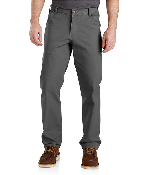 Carhartt Men's Rugged Flex Relaxed Fit Duck Dungaree - 103279 - Gravel