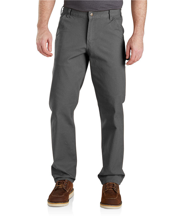 Carhartt Men's Rugged Flex Relaxed Fit Duck Dungaree (103279) in Gravel at Dave's New York