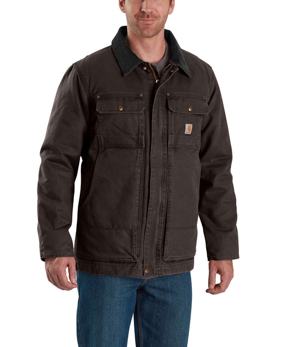 Carhartt 103283 Men's Full Swing Traditional Coat - Dark Brown
