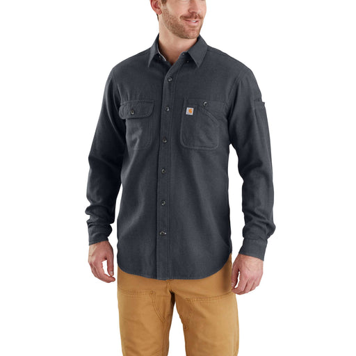 Carhartt 103318 Men's Beartooth Solid Flannel Shirt - Granite Heather