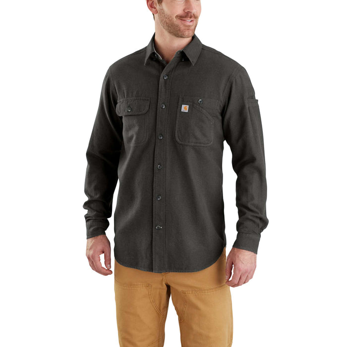 Carhartt 103318 Men's Beartooth Solid Flannel Shirt - Peat Heather