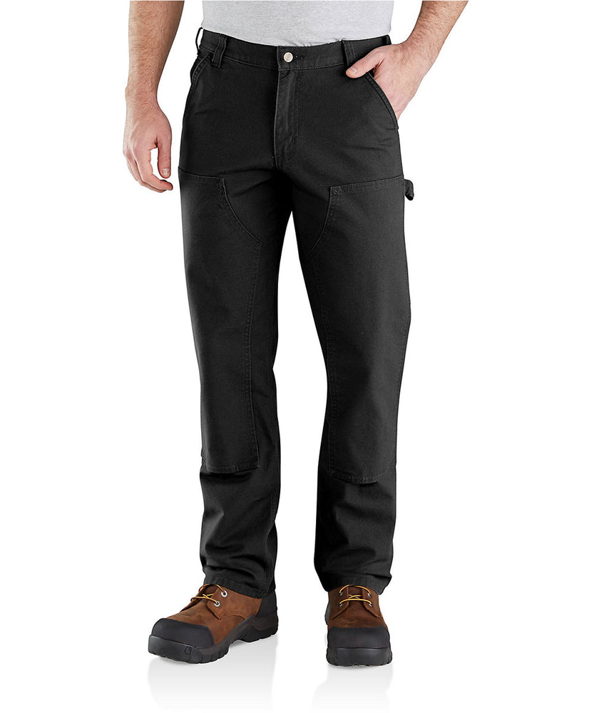Carhartt Rugged Flex Relaxed Fit Double Front Dungaree in Black at Dave's New York