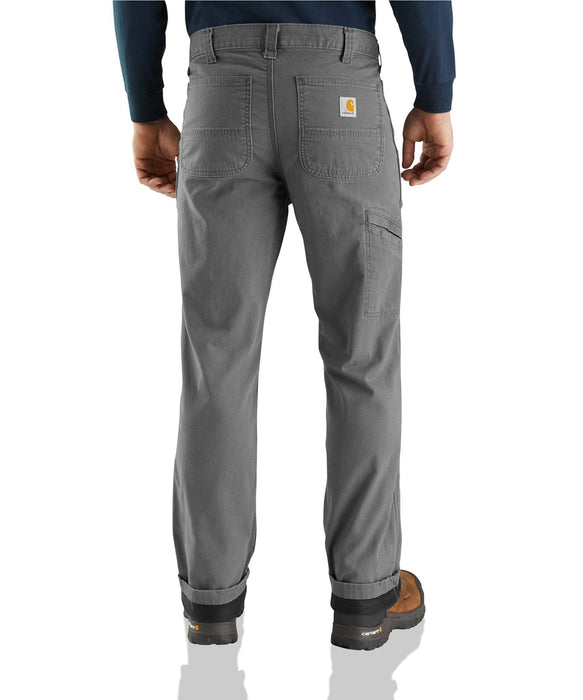 Carhartt Rugged Flex Rigby Dungaree Knit Lined Pant in Gravel at Dave's New York