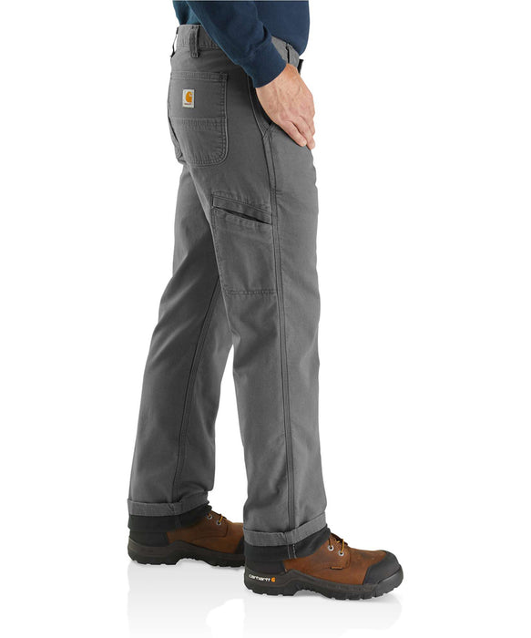 Carhartt Rugged Flex Rigby Dungaree Knit Lined Pant - Gravel