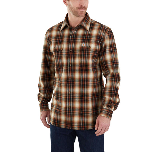 Carhartt 103348 Men's Hubbard Plaid Flannel Shirt - Sequoia