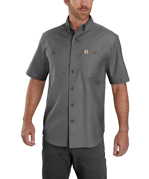 Carhartt Rugged Flex Rigby Short Sleeve Work Shirt - 103555 - Gravel